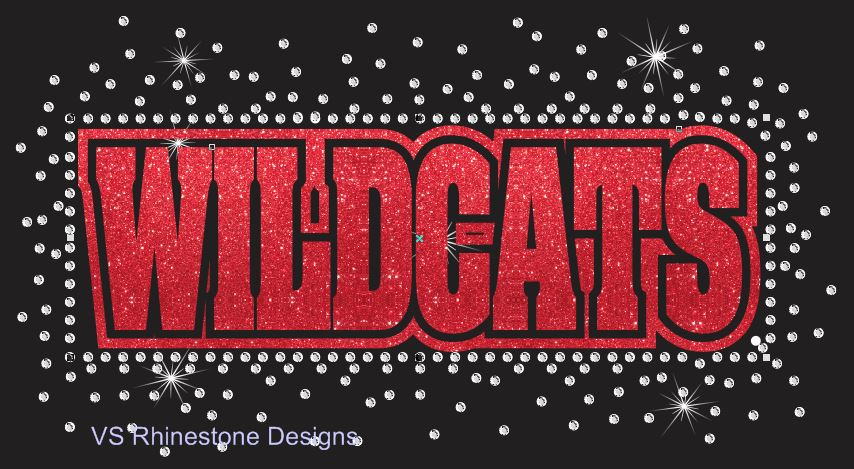 Wildcats Reverse Vinyl and Rhinestone Transfer